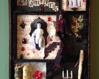 Shadow Box Assemblage Vampyric Curio