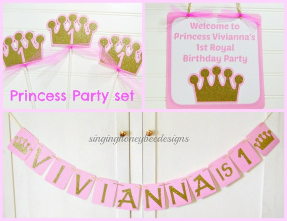 Princess Pink And Gold Birthday Party Decor