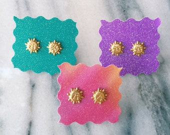 Mini Gold Sun Earring Studs