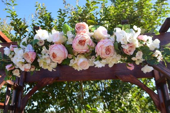 Wedding Ceremony Ideas Flower Covered Wedding Arch: Wedding Arch Ceremony Arch Chuppah Arch Silk Flower Arch