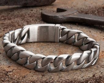 Artillery Steel Bracelet - Brushed Silver