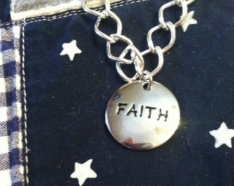 Women/Girls FAITH Metal Chain Bracelet
