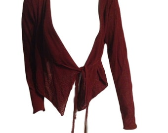 Sarah Pacini Burgundy Sweater - Made in Italy - One Size