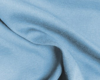 Baby Blue Cotton Spandex Jersey Knit 10 oz Fabric by the Yard #445