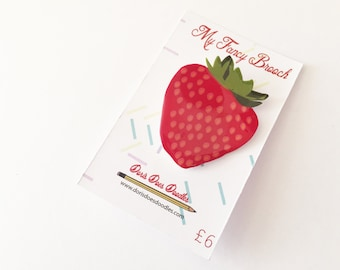 juicy strawberry brooch