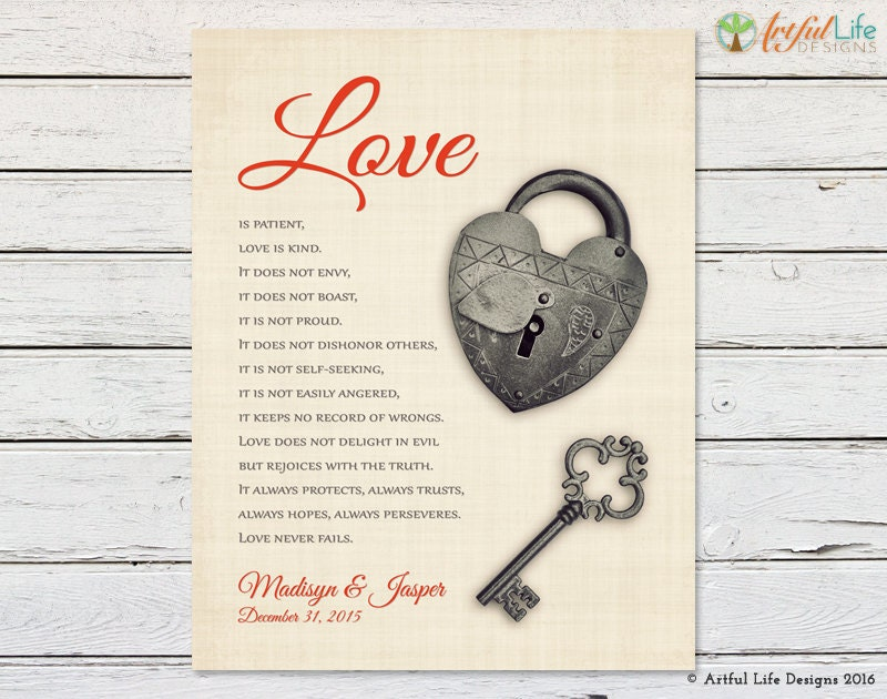 Personalized Housewarming Gift For Couples 1 Corinthians 13