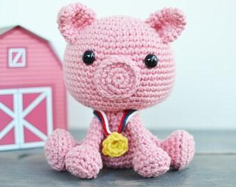 Pig Crochet Pattern. Porkchop The Pig Crochet Pattern. Pig Amigurumi Crochet. Pig Amigurumi Pattern. Pig PDF Pattern, Porkchop The Pig