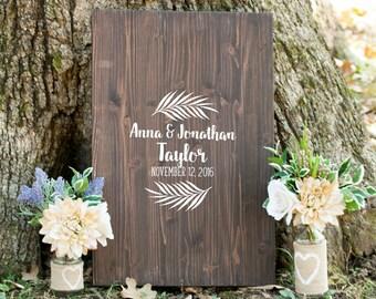 Wood Wedding Signature Guestbook, Unique Guestbook, Custom Wedding Guestbook Sign, Custom Wedding Guestbook Alternative, Wood Boho Guestbook