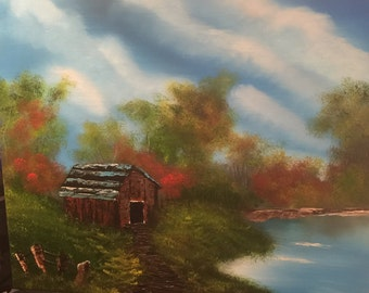 Nature painting oil on canvas