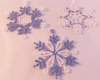 FSL Snowflake Ornaments; Lace Ornaments; FSL Ornaments