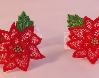 FSL Poinsettia Napkin Rings