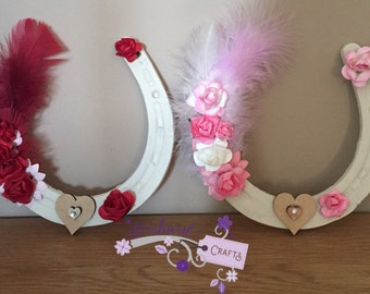 Personalised wedding horse shoe
