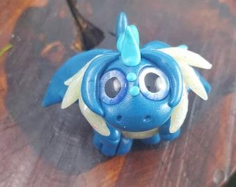 """OOAK polymer clay """"chibi"""" dragon"""