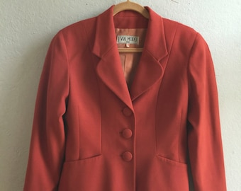Burnt Orange Cropped Jacket