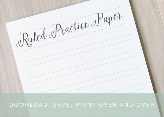 Lined handwriting paper learn calligraphy practice