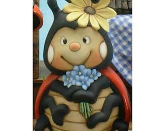Ceramic Ladybug | You paint | Ceramic Bisque | Ladybug | NOT PAINTED