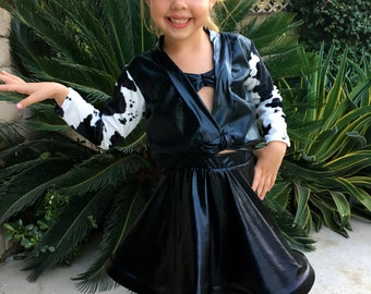 Selena Cow print Jacket ONLY Cowgirl outfit Girl Size 2,3,4,5,6,7,8,10,12,14Y