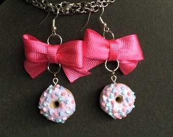 Doughnut with Bow earrings