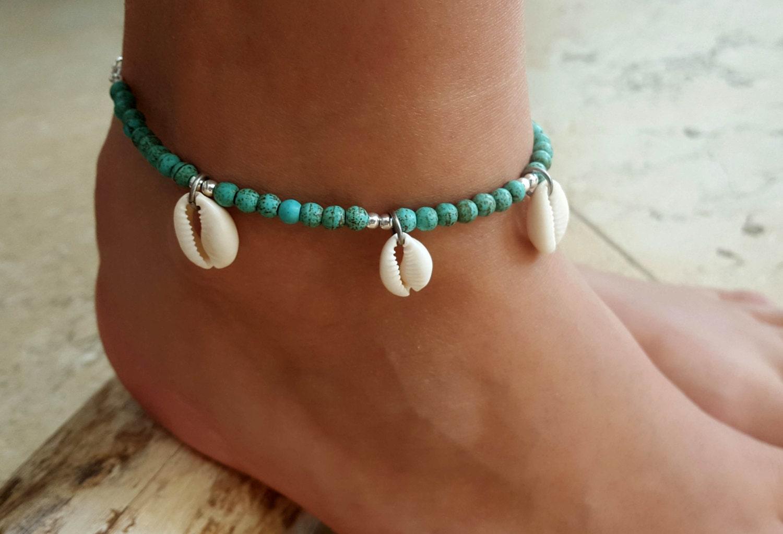 turquoise anklet turquoise ankle bracelet beaded anklet. Black Bedroom Furniture Sets. Home Design Ideas