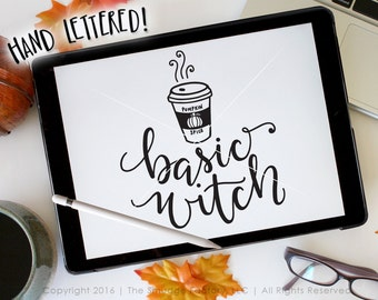 Basic Witch SVG, Witch Cut File, Pumpkin Spice Coffee SVG, Airhead SVG Trendy Cut File Silhouette, Cricut Cut File, Coffee Graphic Overlay