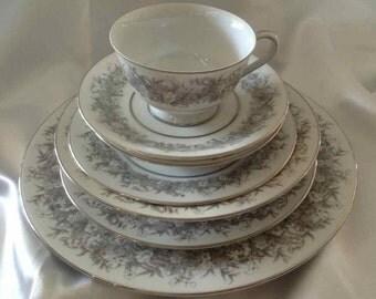 """Vintage Sango """"Florentine"""" 51 Piece Dinnerware Set - Made in Japan - 1950's"""