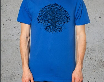 Mens Tree of Life T shirt American Apparel Yoga clothes S M L  XL- ( Multiple Colors Available),instagram likes,instagram