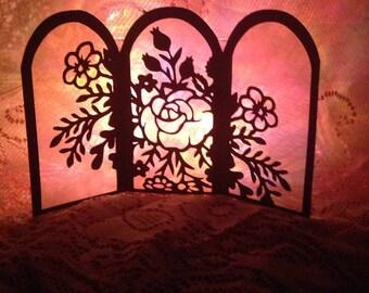 Rose Tri-Fold Luminary