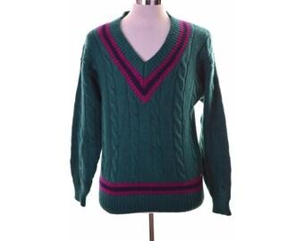 Gap Mens Sweater Jumper XL Green Wool