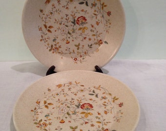 Temper-ware Merriment Bread & Butter/ Dessert Plates, Lenox, Vintage, Collectible, Retired, Floral