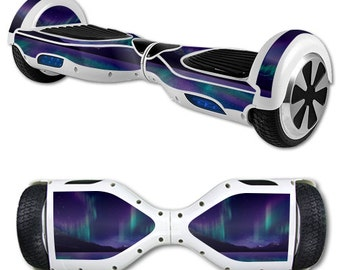 Skin Decal Wrap for Self Balancing Scooter Hoverboard unicycle Aurora Borealis