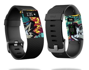 Skin Decal Wrap for Fitbit Blaze, Charge, Charge HR, Surge Watch cover sticker Graffiti Wild Style