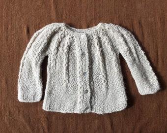 Alpaca sweater, Knitted sweater, Baby sweater, new born sweater