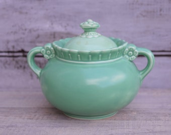 Sugar Bowl, Green, Vistosa, Taylor Smith And Taylor, Jade Green Decor,