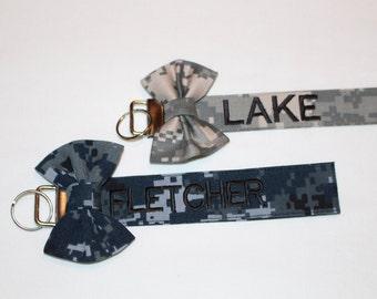 Custom Military Regular Key Chain. Camo Backed.
