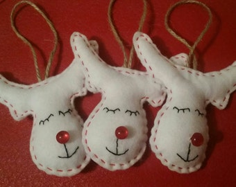 Felt Rudolf Reindeer Hanging Christmas decorations