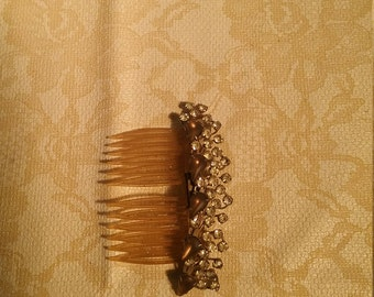 Vintage jeweled Hair Comb clip