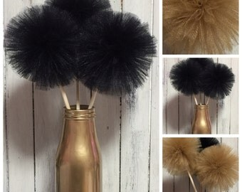 8 Tulle pom poms Centerpiece,Party Decoration,Pom Pom Favors Centerpiece