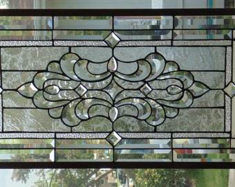 Stained Glass Window Hanging 30 1/2 X 16 1/4