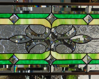 Stained Glass Window Hanging 26 X 12
