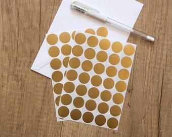 "0.75"" bronze sticker, circle sticker, round paper label, letter envelope seal, self adhesive bag seal gift packaging planner sticker"