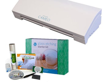 Silhouette CAMEO 3 Cutting Machine with Glass Etching Starter Kit A 339.98 Value - NOW SHIPPING!!!