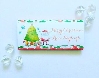 Watercolour Christmas furry friend wrapper