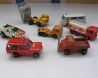 VINTAGE Lot of 7 Mojorette Matchbox Hot Wheels