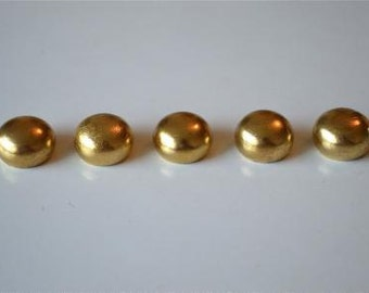 A set of 5 solid brass antique style ball finials 13mm RR4
