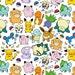 Cute Pokemon Doodle Art Print