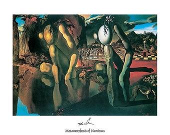 Salvadore Dali Metamorphosis Of Narcissus print poster wall art 11 x 14