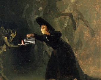 Francisco de Goya: The Bewitched Man. Fine Art Print/Poster (00122)