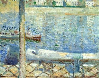 Edvard Munch: The Seine at Saint-Cloud. Fine Art Print/Poster (0094)