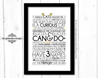 Cats - Broadway Musical - Quotes & Lyrics - Typography - PRINT
