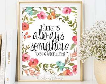 Kids Wall Art Quote Print wall decor inspirational quotes nursery decor be grateful print Motivational quote art Positive Art  ID109-112